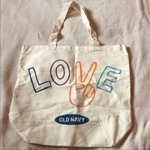 Old Navy Love Canvas Tote